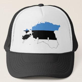 Casquette Carte EE de drapeau de l'Estonie