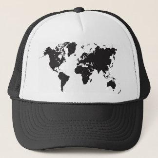 Casquette carte noire du monde