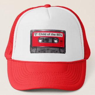Casquette cassette rouge d'étiquette des années 80