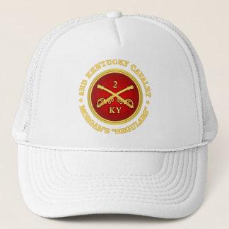 Casquette Cavalerie de CSC -2nd Kentucky (laiton-rouge)