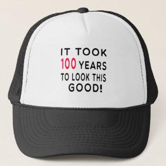 Casquette Cela a pris 100 ans de conceptions d'anniversaire