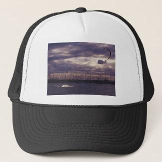 Casquette Cerf-volant surfant à la plage de St Kilda