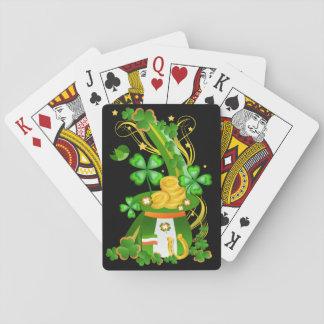 Casquette chanceux de trèfle cartes à jouer