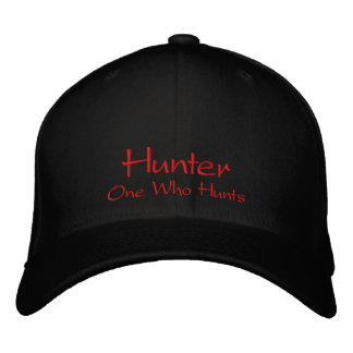 Casquette chapeau de nom de chasseur casquette de baseball
