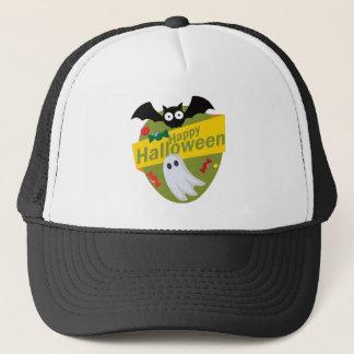 Casquette Chauves-souris et fantômes heureux de Halloween