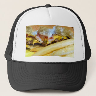 Casquette Cheeseburger et fritures