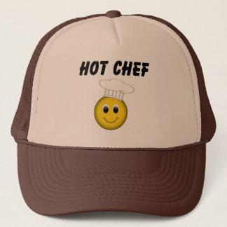 Casquette Chef chaud de visage souriant