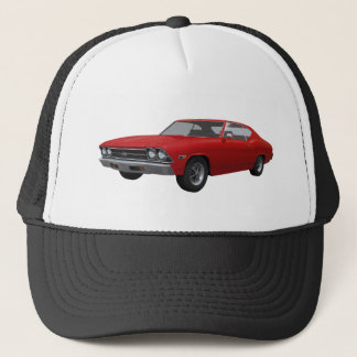 Casquette Chevelle 1969 solides solubles : Finition rouge