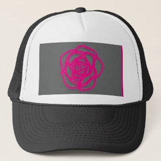 Casquette Choisissez le rose de couleur sur le gris
