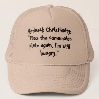 """Casquette Christianisme de plouc : """"Passez le plat de"""