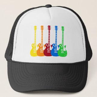 Casquette Cinq guitares électriques
