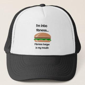 Casquette Citation drôle d'hamburger de forme physique