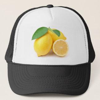 Casquette Citrons jaunes lumineux et frais