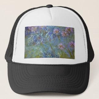 Casquette Claude Monet - peinture classique de fleurs