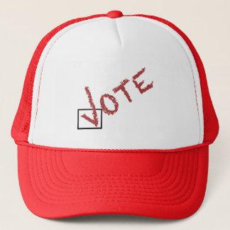 Casquette coche de vote