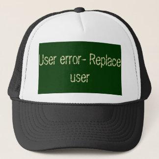 Casquette Code d'erreur d'utilisateur