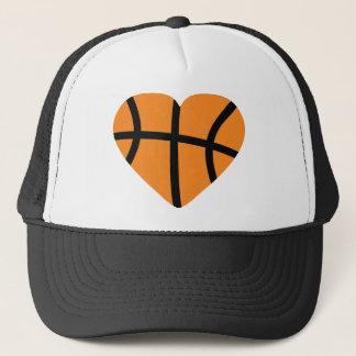 Casquette coeur de basket-ball