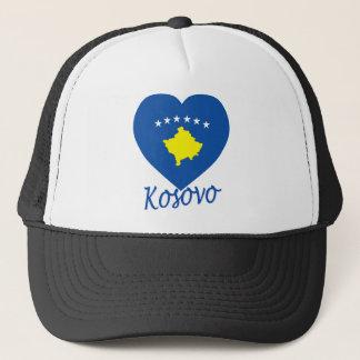 Casquette Coeur de drapeau de Kosovo