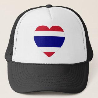 Casquette Coeur de drapeau de la Thaïlande
