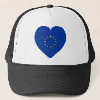 Casquette Coeur de drapeau d'Union européenne