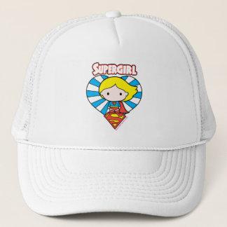 Casquette Coeur et logo de Chibi Supergirl Starburst