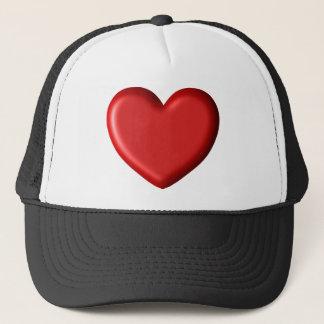 Casquette Coeur gonflé romantique 3D d'amour rouge de coeur