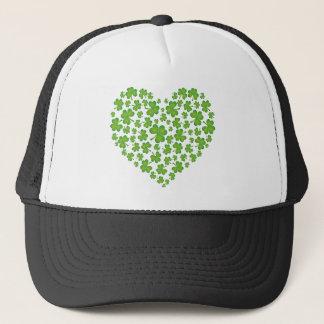 Casquette Coeur irlandais de shamrock