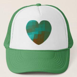 Casquette coeur vert