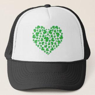 Casquette Coeur vert irlandais de shamrock