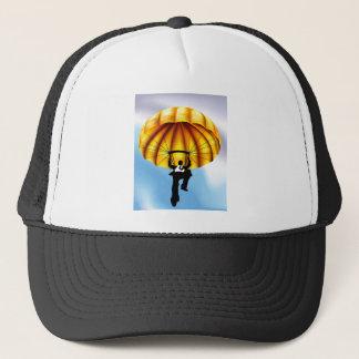 Casquette Concept d'homme d'affaires de parachute doré