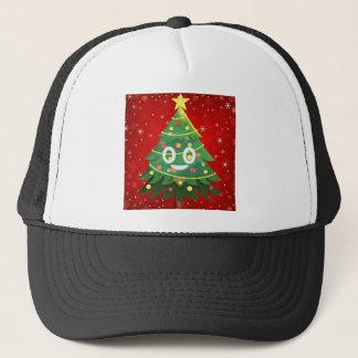 Casquette Conception d'arbre de Noël d'Emoji