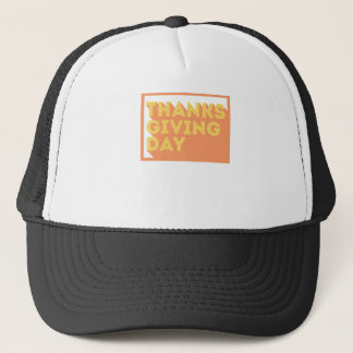 Casquette Conception de jour de bon thanksgiving