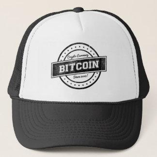 Casquette Conception de logo d'étiquette de Bitcoin