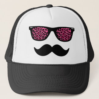 Casquette Conception de moustache de léopard de roses indien