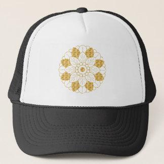 Casquette Conception élégante de mandala fascinant d'or