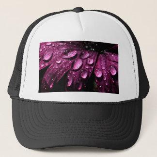 Casquette conception florale d'art de baisses de pluie