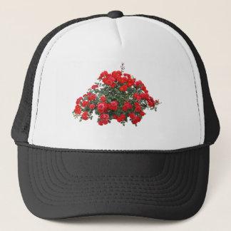 Casquette Conception florale rouge d'art