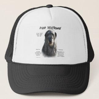 Casquette Conception (grise) d'histoire de chien-loup