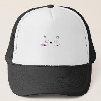 Casquette Conception mignonne de chatons sur le blanc