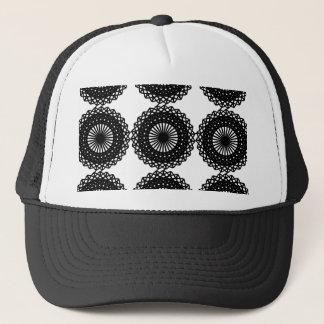 Casquette Conception noire de motif de dentelle. Coutume