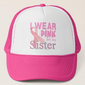 Casquette Conscience de cancer du sein pour la soeur