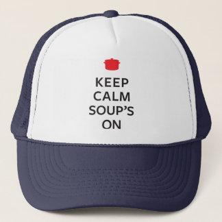 Casquette Conservez la soupe calme dessus