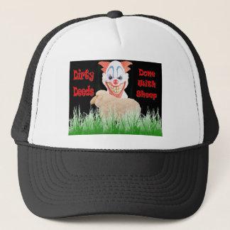 Casquette Contrats sales faits avec des moutons