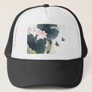 Casquette Cool asiatique d'art de papillon de fleur de rose