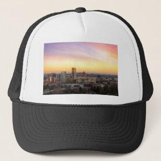 Casquette Coucher du soleil au-dessus de Portland OU de