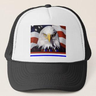 Casquette Couleurs bleues blanches rouges chauves d'Eagle
