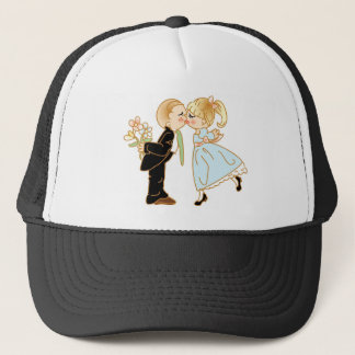 Casquette Couples de baiser mignons