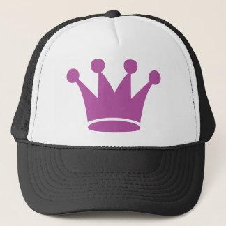 Casquette couronne rose de princesse