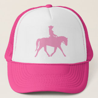 Casquette Cow-girl montant son cheval (rose)