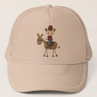 Casquette Cowboy sur des T-shirts et des cadeaux de cheval